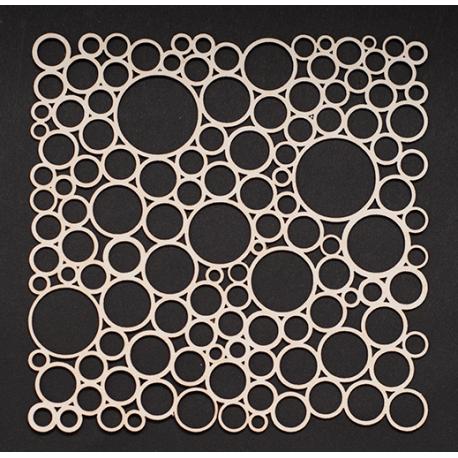 Chipboard -  Background Irregular Circles