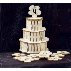 Chipboard 3D  - Cake  /narrow for decor box