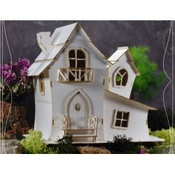 Chipboard 3D - Large Fairy House