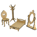 MDF -Kit for Shadow Boxes/ Bed room3D