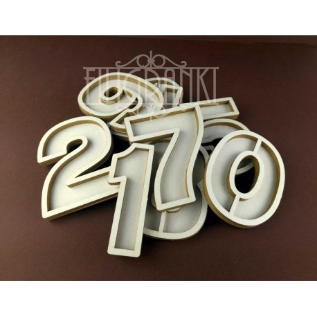 Chipboard - Shaker Cards /NUMBER 0