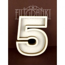 Chipboard - Shaker Cards /NUMBER 5