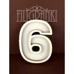 Chipboard - Shaker Cards /NUMBER 6
