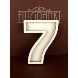 Chipboard - Shaker Cards /NUMBER 7