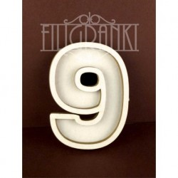 Chipboard - Shaker Cards /NUMBER 9