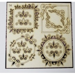 Chipboard - Set of frames (11pcs)