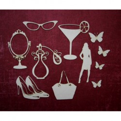 Chipboard - Feminine world (11pcs)