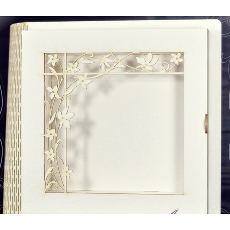 Box - Decor Book / Base with floral corner