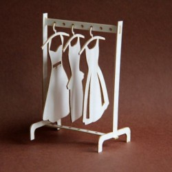 Chipboard - Small Wardrobe Hanger3D