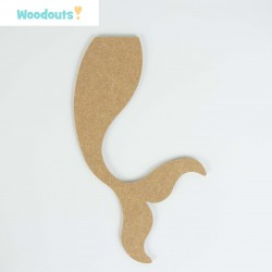 MDF -Large Shape - MERMAID'S TAIL 1