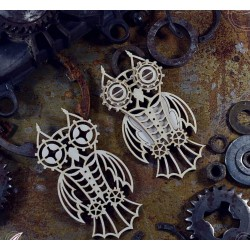 Chipboard  STEAMPUNK / Layered Owls