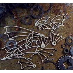 Chipboard  STEAMPUNK /  Set of wings
