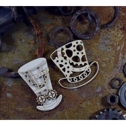 Chipboard  STEAMPUNK / Layered Cylinders