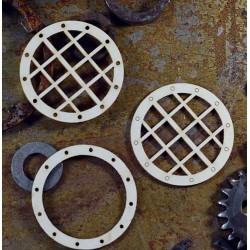Chipboard  STEAMPUNK / Portholes - 4pcs