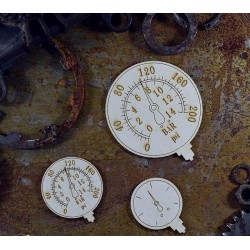 Chipboard  STEAMPUNK / Manometers