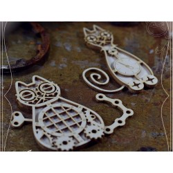 Chipboard  STEAMPUNK / Layered Cats