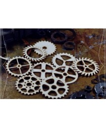 Chipboard  STEAMPUNK / Set of gears