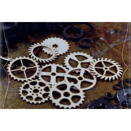 Chipboard  STEAMPUNK / Set of gears