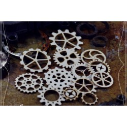 Chipboard  STEAMPUNK /  Set of gears 2