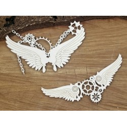 Chipboard  STEAMPUNK / - Small chained wings