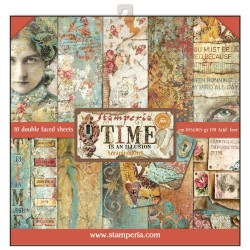 Scrapbooking Paper - TIME IS AN ILLUSION (12x12)