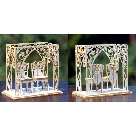 Chipboard 3D- Wedding Chairs