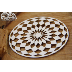 Chipboard - Wonderland -  round chessboard