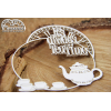 Chipboard -Wonderland - Always a tea Time frame