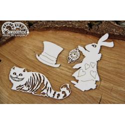 Chipboard - Wonderland - characters