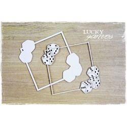Chipboard- Layered frame with dice