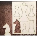 Chipboard- Chess 6 pieces