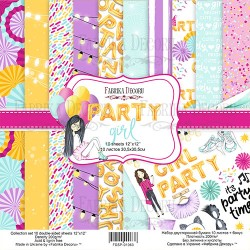 Scrapbooking Paper - PARTY GIRL (12x12)