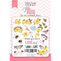 DIE CUT Elements - Yellow Rose / 57pcs