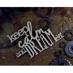 Chipboard -ANEMONE / keep calm