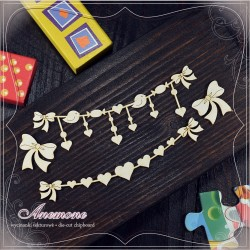 Chipboard - Garlands and bows