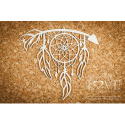 Chipboard - arrow with dream catcher