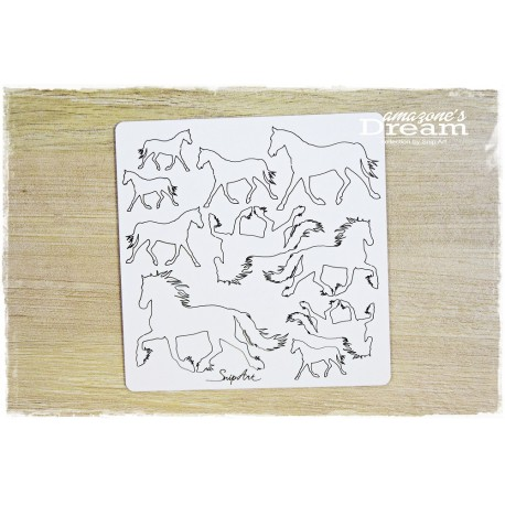 Chipboard - horse trotting