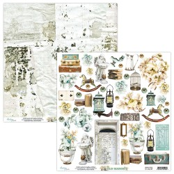 Scrapbooking Paper- 12x12 Sheet - OLD MANOR 09