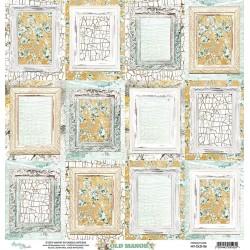 Scrapbooking Paper- 12x12 Sheet - OLD MANOR 06