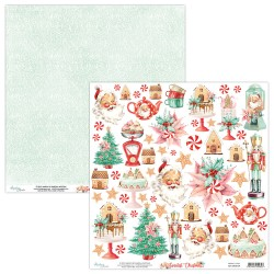 Scrapbooking Paper- 12x12 Sheet - THE SWEETEST CHRISTMAS 09
