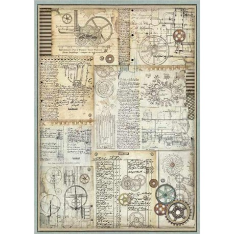 A3 Rice Paper - VOYAGES FANTASTIQUES GREARS