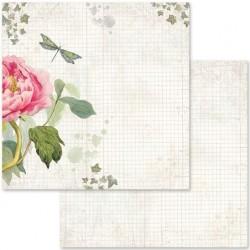 Scrapbooking Paper - LETTERS & FLOWERS (12x12)