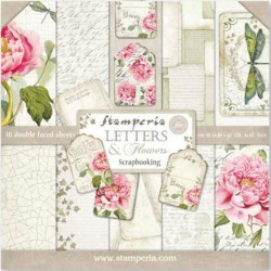 Scrapbooking Paper - LETTERS & FLOWERS (12x12)