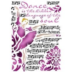 """Big Stencil 75 - STAMPERIA """"Dance"""""""