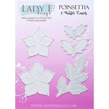 Lady E Design  Dies Flower / Poinsettia 2