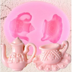 Silicone Mold - Teapot  and  Teacup / small