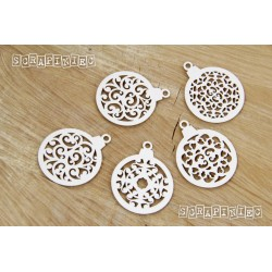 Chipboard - Christmas Baubles - 5pcs