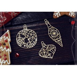 Chipboard - Small Baubles -  3 pcs