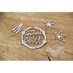 Chipboard - Polish text -Wesołych Świąt/|Happy Christmas