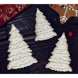 Chipboard - Layered Christmas trees /3pcs